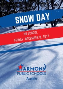 Snow Day School Cancelled December 8, 2017